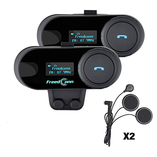 Freedconn TCOM-SC Moto Intercom Oreillette Bluetooth...
