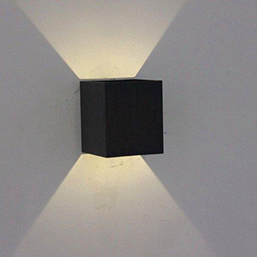 ShouYu Lampe Murale à Led Salon Chambre à coucher lit carré en aluminium Lampes lumière Animation instantané lumière escalier murs minimaliste moderne Creative /6X6X7cm