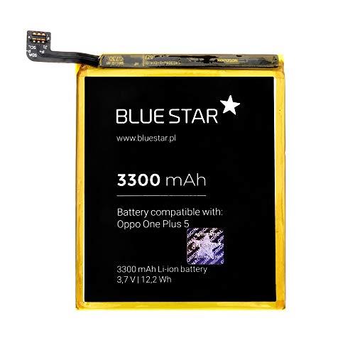 Blue Star Premium - Batteria da 3300 mAh Li-Ion de Capacità Carica Veloce 2.0 Compatibile Con il ONEPLUS 5 / ONE PLUS 5