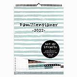 Familienplaner 2022 Wandkalender mit 5 Spalten   DIN A3 I Zum Aufhängen in der Küche  Praktischer Kalender mit Stickern, Ferienterminen, Jahresübersicht, extra Seite für Urlaubsplanung