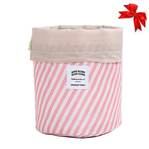 Gcroet 1pc Sac à Cordonnet CosméTique Oxford Tissu Organisateur De Maquillage Baril Suspendu En Forme De Sac De Toilette Sac De Lavage De Stockage Portable (Rouge)