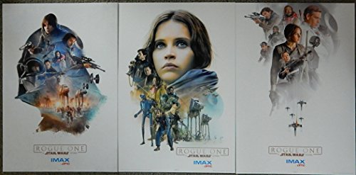 Rogue One:A Star Wars Story AMC Exclusive Imax Limited Edition Original Promo Movie Poster Set of 3 13x19