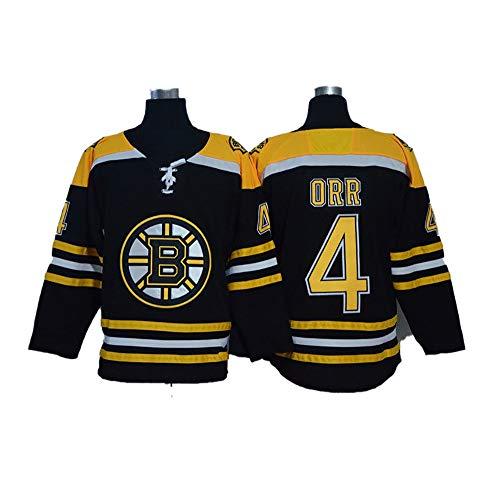 Yajun Orr # 4 Boston Bruins Eishockey Trikots Jersey NHL Herren Sweatshirts Damen T-Shirt Bekleidung,Black,Ladies-L