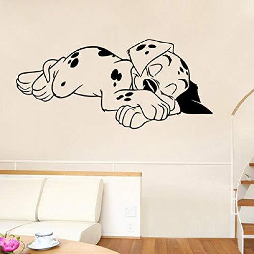 Vat verwijderbaar PVC vinyl muurstickers waterdicht decoratief schilderij slaapkamer woonkamer TV muurschilderij puppy children's room 57 * 26 cm