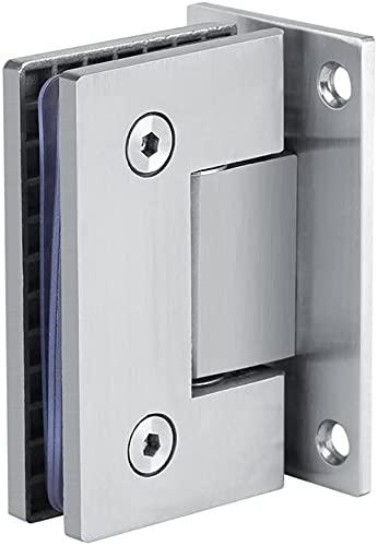 Bisagras para puerta de ducha de cristal, bisagras de 90 grados, abrazadera de puerta de baño de acero inoxidable para vidrio endurecido de 8 a 12 mm, resistencia a la corrosión