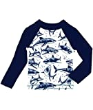 Baby Shark Swimsuit Boys Rash Guard Toddler Boys Long Sleeve Swim Shirt UPF 50+ Sun Protection Swimming Shirts 1-2 Years