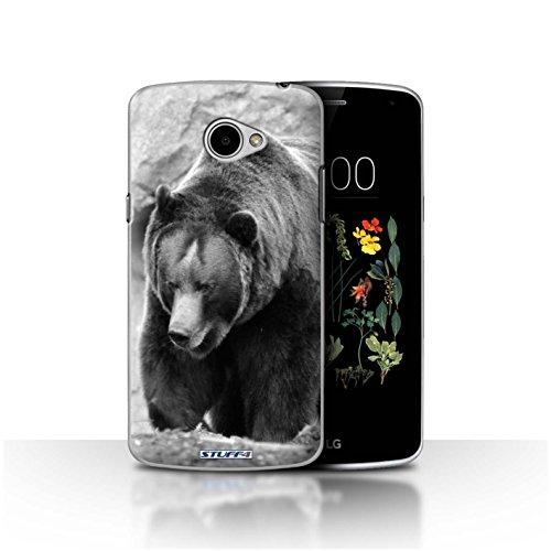 Hülle Für LG K5/X220 Zoo-Tiere Bär Design Transparent Ultra Dünn Klar Hart Schutz Handyhülle Hülle