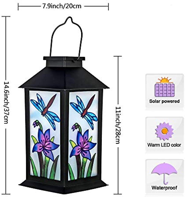 Xiadsk Licht, Lampe, Laterne Outdoor Solar hngende Laterne Lichter LED dekorative Lampe für Gartenterrasse Hof Rasen und Tisch (Schmetterling)