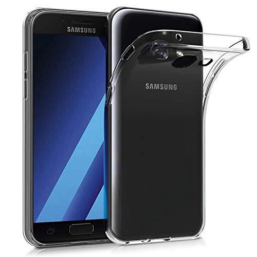 Amonke Handyhülle für Samsung Galaxy A3 2017 - Flexible Samsung Galaxy A3 2017 Hülle Silikon Transparent, Ultra Klar TPU Case Cover Durchsichtige Handytasche Schutzhülle für Samsung Galaxy A3 2017