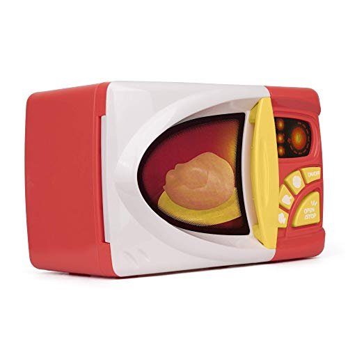 Playkidz Juego de cocina para microondas con comida falsa – Juguete educativo – Batería de juego con luces y sonidos –...