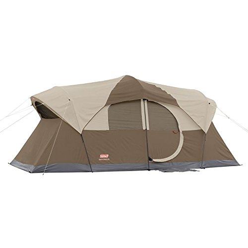 Coleman Weathermaster 10 Tent 17x9 Ft BRWN/Tan/Bl 2000001598