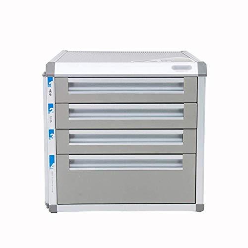 HYY-YY Mesa de la oficina del cajón clasificador de aleación de aluminio con cerradura de datos gaveta de almacenamiento de confidencialidad con bloqueo Oficina de escritorio Organizador de cajones (D