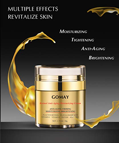 41dgwMaEGnL - Go May Face Moisturizer for Women, Retinol Moisturizing Night Cream, Natural Anti-Aging Cream with Hyaluronic Acid and Vitamin C, Reduce Wrinkles, Firming, Brighten