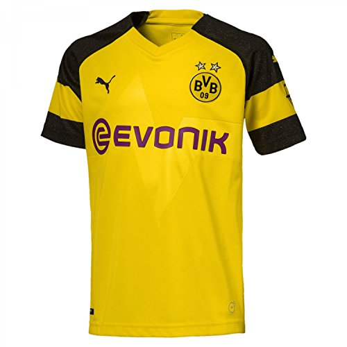 PUMA Kinder Bvb Home Shirt Replica Jr Evonik with Opel Logo Trikot, gelb (Cyber Yellow), 128