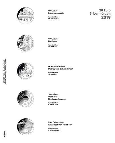 Lindner MU20E19 Multi Collect Vordruckblatt für 20 Euro-Silbermünzen Bundesrepublik Deutschland...