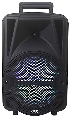 """QFX PBX-BF8SM 8"""" Portable Bluetooth Party Speaker with Tripod Stand and Wireless Microphone"""
