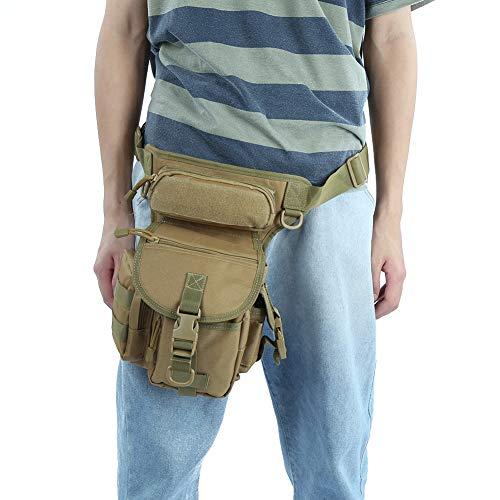【𝐏𝐫𝐨𝐦𝐨𝐜𝐢ó𝐧 𝐝𝐞 𝐒𝐞𝐦𝐚𝐧𝐚 𝐒𝐚𝐧𝐭𝐚】 Bolsa para Pierna de fotografía, Bolsa para cámara Bolsa para Pierna caída Resistente al(One Size, Khaki)