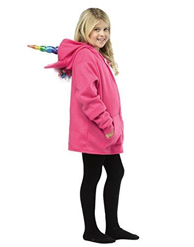 Rasta Imposta 16011-PLUS Sweat-Shirt à Capuche Licorne Rose/Multicolore (Grandes Tailles)