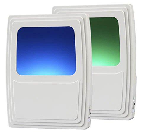 Amerelle Always On Green and Blue Night Light, 2 Pack – Plug-In Forever-Glo LED Night Light – Includes 1 Blue Light and 1 Green Light – An Ideal Bathroom Night Light or Nursery Night Light