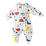 Happy Cherry - Saco de dormir para bebé de manga larga extraíble de algodón para niña, niño o niño, de 9 a 48 meses Dinosaure 2 9-18 meses