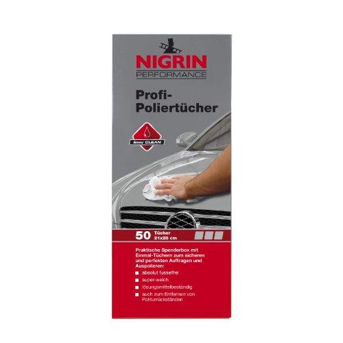 NIGRIN 73898 Profi-Poliertücher Spenderbox, 50 Stücke