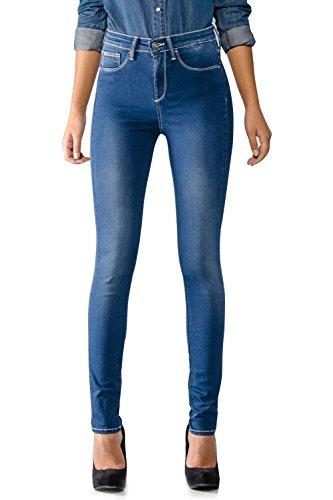 Tiffosi 10006162 Vaqueros Skinny, Azul (Mid Wash), One Size (Tamaño del Fabricante:One Size) para Mujer