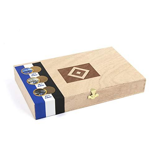 Hamburger SV HSV Holzkiste Kiste Geschenkbox Schokolade aus Vollmich 360g, 20410