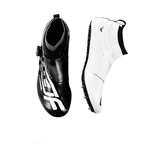 X/L Zapatillas de Atletismo Zapatillas de Carrera de Distancia con Clavos Zapatillas de Carreras de Atletismo para Hombres y Mujeres con Clavos Niños Niñas (Color : D, Size : 9.5 UK)