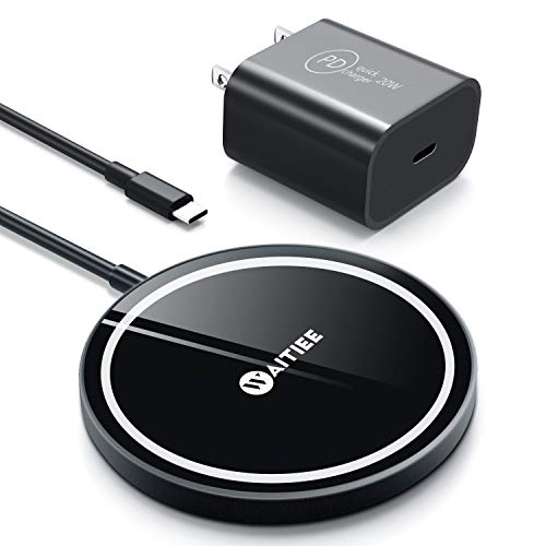 WAITIEE Wireless Charger, Fast Magnetic Wireless Charger with Rubber...