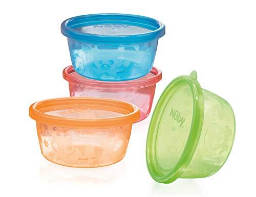 Nûby - Pots pour Encas - 4 Pièces - 240 ml - 3M+