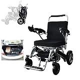 ZHANGYY Silla de Ruedas eléctrica para Ancianos, Scooter para Ancianos automático Ultraligero y Conveniente Plegable, Puede soportar 160 kg de Peso Pesado