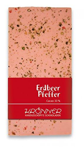 Krönner Erdbeer-Pfeffer / 100g Tafelschokolade