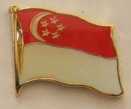 Singapur Pin Anstecker Flagge Fahne Nationalflagge Flaggenpin Badge Button Flaggen Clip Anstecknadel