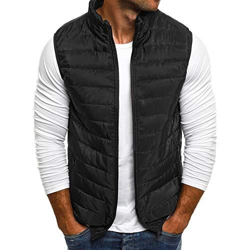 No Brand® herenvest casual outwear herfst vest zonder mouwen vest heren rits jas parka mantel