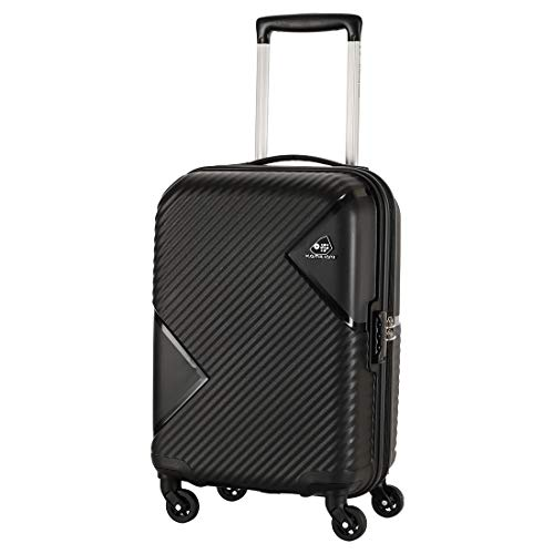 Kamiliant by American Tourister Kam Zakk Polypropylene 55 cms Black Hardsided Cabin Luggage (KAM...
