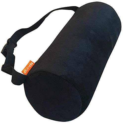 Cooling Gel Memory Foam Lumbar Support Pillow for Office Chair and Car Seat | Back Pillow for Lower Back Pain Relief | Roll Pillow Washable Ventilate Mesh | Adjustable Strap Belt | Ergonomic Design