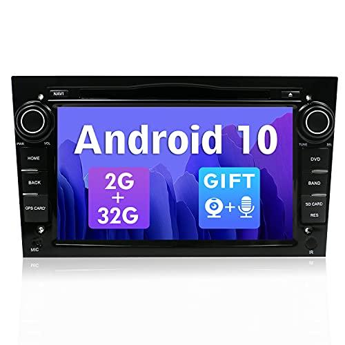 SXAUTO Android 10 Autoradio Compatibile Opel Meriva/Corsa/Zafira/Vivaro/Antara- [2G/32G] - GratuitiCamera & Canbus - Supporto DAB 4G WiFi Bluetooth5.0 Volante Carpaly Android Auto Mirrorlink - 2 Din