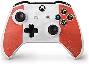 Skinit Decal Gaming Skin for Xbox One S Controller - Originally Designed Peru Flag Distressed Design