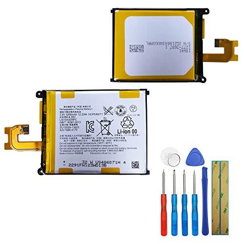 Batería de polímero de litio LIS1543ERPC compatible con Sony Ericsson Xperia Z2 Xperia L50 Xperia Z2 3G D6502 Xperia Z2 D6508