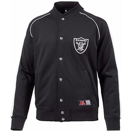 Majestic Herren Fleece Letterman Jacket, Black, M