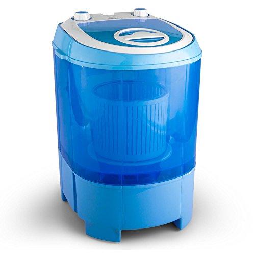 oneConcept SG003 - Camping-Waschmaschine, Mini-Waschmaschine, Wäscheschleuder, Toploader, 2,8 kg Kapazität, 180 Watt Leistung, für Singles und Studentenhaushalte, geräuscharm, sparsam, blau