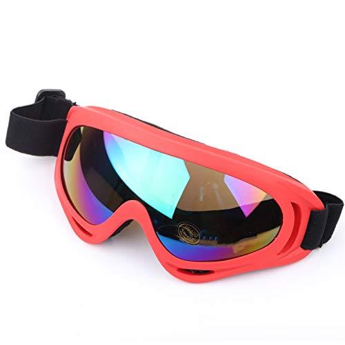 N\A Gafas de Snowboard de esquí Color Profesional Nieve a Prueba de Viento x400 UV ProtectionOutdoor Deportes Anti-Niebla Gafas de esquí Snowboard Skate Skiing Gafas (Color : Red Colorful)
