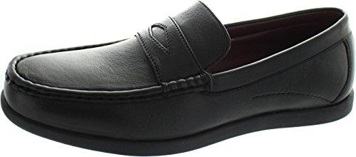 Dr Keller Rick - Zapatos de Cordones de Piel para Hombre Negro Negro, Color Negro, Talla 42.5