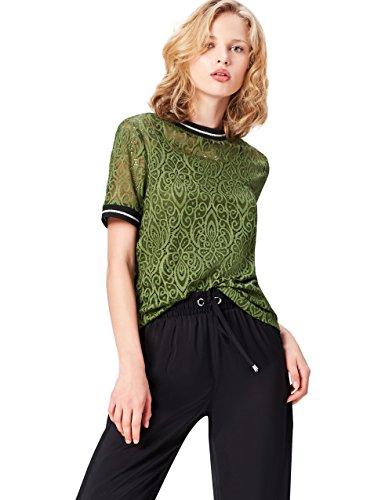 find. 70200 camisetas mujer fiesta,, Verde (Khaki), 38 (Talla del Fabricante: Small)