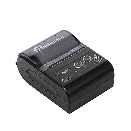 skrskr MHT-P10 Mini USB + BT Stampante Termica per ricevute Controllo Telefono 58mm per Android, Macchina da Stampa iOS Spina...