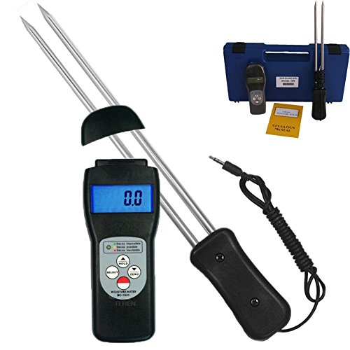 DTI-MC-7825G Portable LCD Dispaly Grain Moisture Meter Maize Pepper Coffee Cocoa Bean Humidity Tester 7~30%