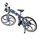 Homyl Metall Fahrrad Figur Fahrradmodell Geldgeschenk Fingerfahrrad als Dekoration und Geschenk - Blau-A