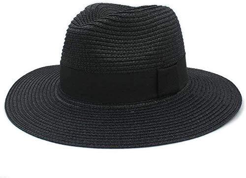 GTSER Sombreros Sombrero de Playa Damas de Verano Hombres toquilla Sombrero de Paja Sombrero de Sol Elegante ala Ancha Sombrero de panamá Sombrero de Reina Fedora Sombrero de Playa cómodo-4_56-59