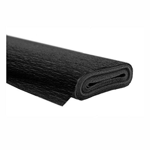 Krepppapier schwarz 50x250 cm Rolle färbt nicht ab bei kontakt mit Wasser