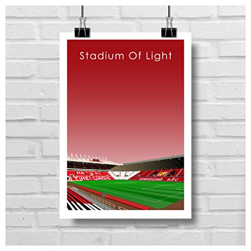 Home.Ground.Prints Wall Art Graphic Design English Football Stadium Gift Print Collection - Sunderland AFC'Stadium of Light' SAFC